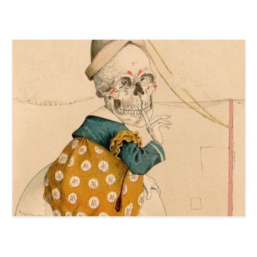 Skeletal Clown Postcards