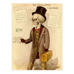 Skeletal Doctor Postcard