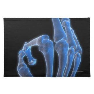 Skeletal Hand Gesture Placemat
