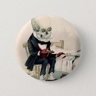 Skeletal Last Rites 6 Cm Round Badge