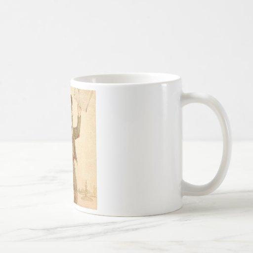 Skeletal Paperboy Classic White Coffee Mug