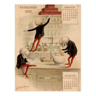 Skeletal Pharmacy Postcard