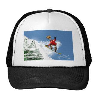 Skeletal Snow Boarder Cap