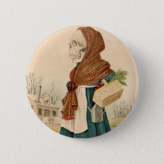 Skeletal Vegetable Lady 6 Cm Round Badge