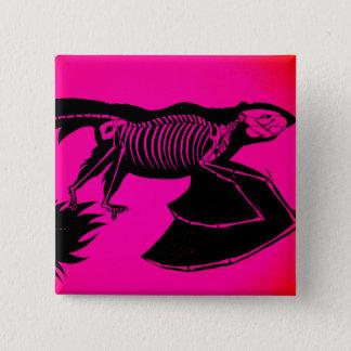Skeleton 15 Cm Square Badge