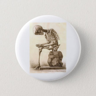 skeleton 6 cm round badge
