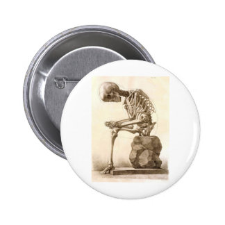 skeleton 6 cm round badge