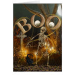 Skeleton and Grave Halloween Greeting Card