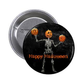 Skeleton and Jack O Lanterns Pin
