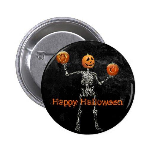 Skeleton and  Jack O' Lanterns Pin