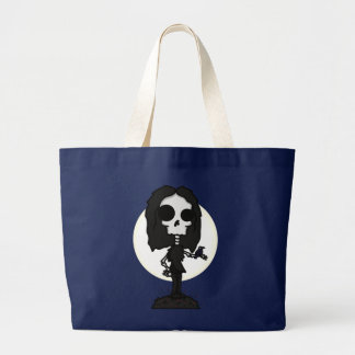 Skeleton and Raven Bag