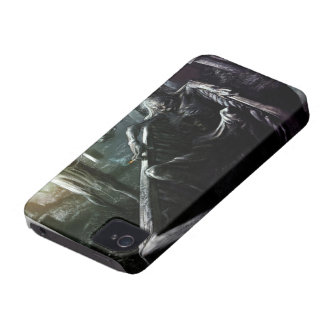 Skeleton And Woman in Coffin iPhone 4 Case-Mate Case