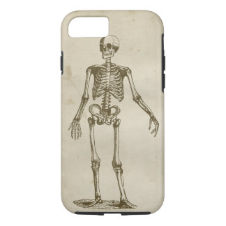 Skeleton Antique Stained Parchment Retro Bones iPhone 7 Case