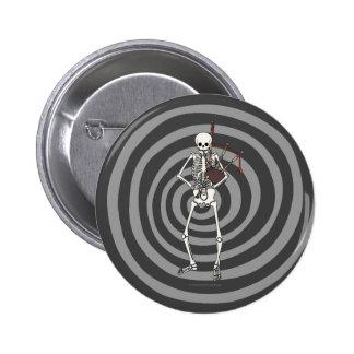Skeleton Bagpipe Player Pinback Button