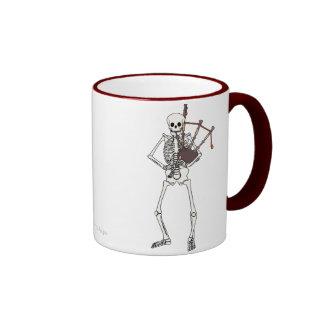 Skeleton Bagpipe Player Ringer Mug