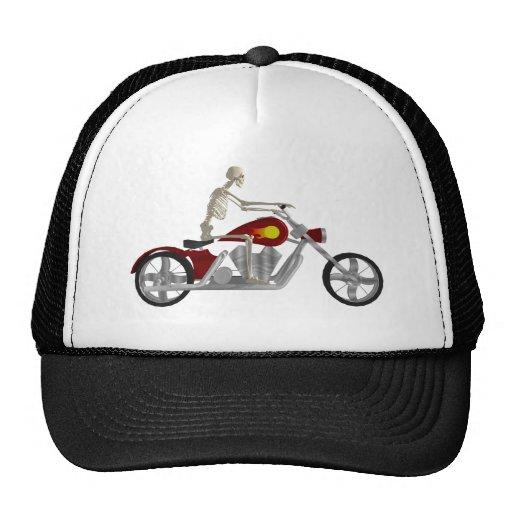 Skeleton Biker / Bike Rider: 3D Model: Hat