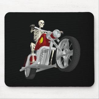 Skeleton Biker / Bike Rider: 3D Model: Mouse Mat