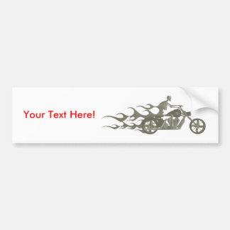 Skeleton Biker / Bike Rider: Bumper Sticker