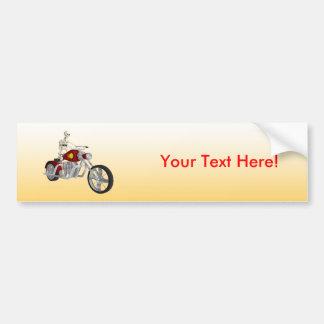 Skeleton Biker / Bike Rider: Bumper Sticker