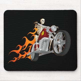 Skeleton Biker & Flames: Mouse Mat