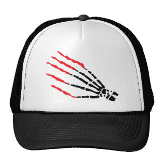 skeleton bone hand bloody scratches mesh hats