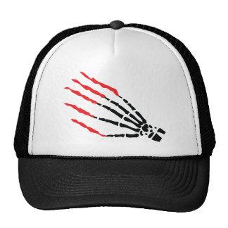 skeleton bone hand bloody scratches mesh hats