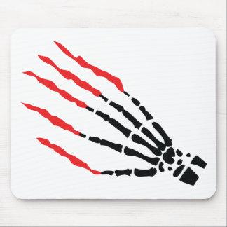 skeleton bone hand bloody scratches mousepad