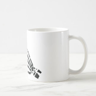 skeleton bone hand bloody scratches coffee mugs