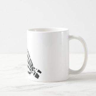 skeleton bone hand bloody scratches coffee mugs