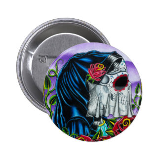 Skeleton Bride 6 Cm Round Badge