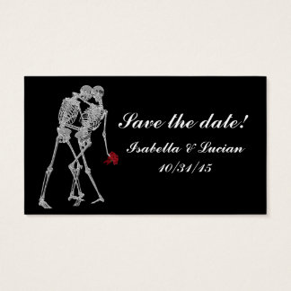 Skeleton Bride and Groom RSVP cards