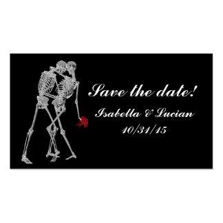 Skeleton Bride and Groom RSVP cards Business Card