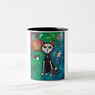 Skeleton Cat Coffee Mug