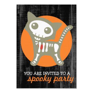 Skeleton Cat Halloween Party Invitation