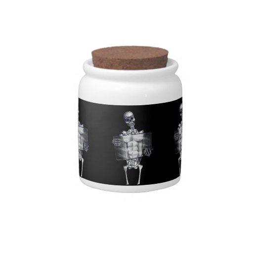 Skeleton Chest Xray Candy Jar