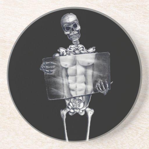 Skeleton Chest Xray Coasters