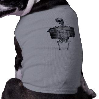 Skeleton Chest Xray Doggie Shirt