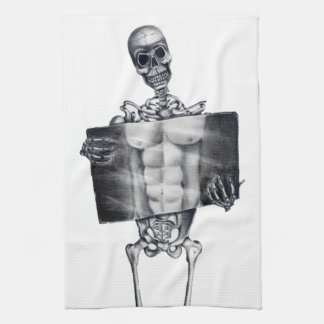 Skeleton Chest Xray Kitchen Towels