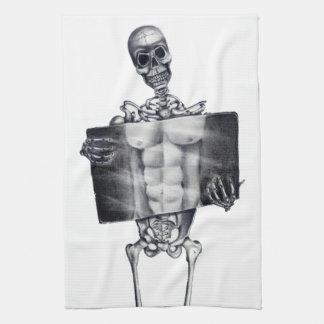 Skeleton Chest Xray Kitchen Towels