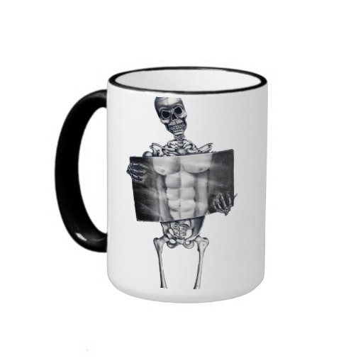 Skeleton Chest Xray Mugs