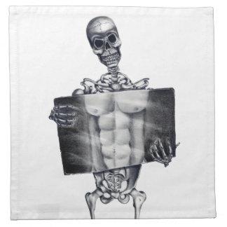 Skeleton Chest Xray Napkins