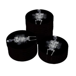 Skeleton Chest Xray Poker Chip Set