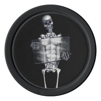 Skeleton Chest Xray Poker Chips Set