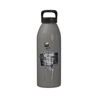 Skeleton Chest Xray Water Bottle