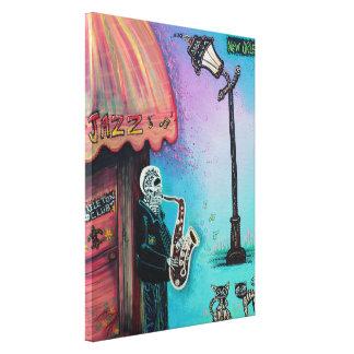 Skeleton Club Wrapped Canvas Print