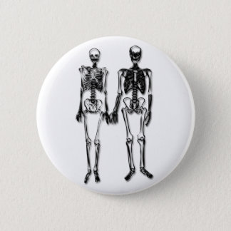 Skeleton Couple 6 Cm Round Badge