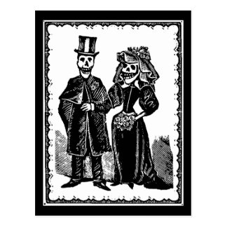Skeleton Couple - Postcard