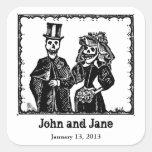 Skeleton Couple - Tag Sticker (Customise)