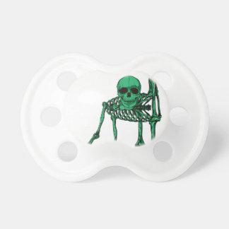Skeleton Creepy Yoga Skull Dancing Baby Pacifiers