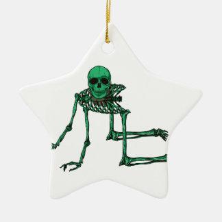 Skeleton Creepy Yoga Skull Dancing Ceramic Star Decoration